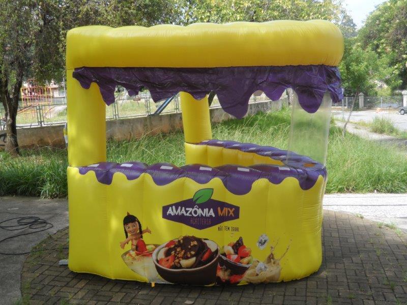 Barraca inflável personalizada