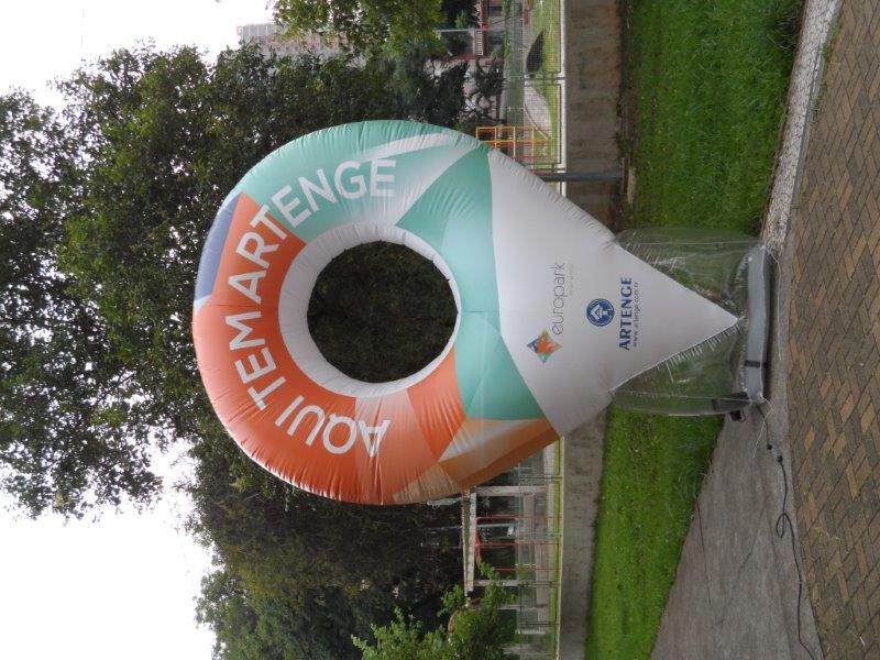 Logo inflável