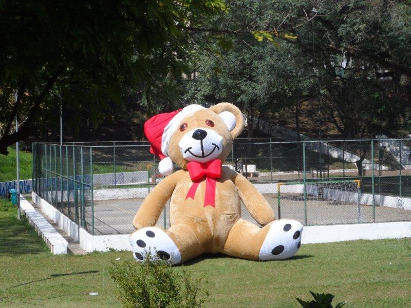 Boneco papai noel inflável