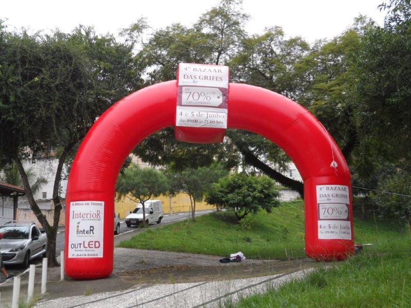 Portal inflável personalizado