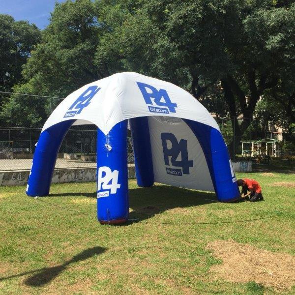 Tenda inflável para propaganda