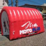 Túnel inflável para campo de futebol