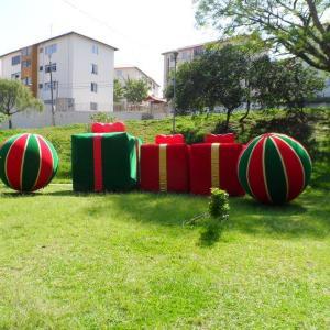 Fabrica de papai noel inflável